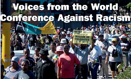 Voices from the World Conference Against Racism